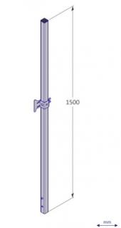 VIVA Leuningstaander 1,50 met verstelbare hekhouder