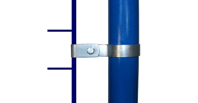 Montageclip enkel 42.4 mm