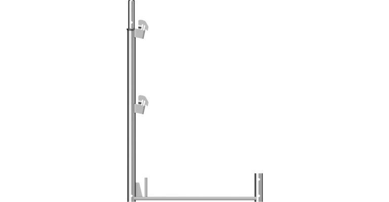 Layher BL Leuningstijl staal 1,00x0,73 m. nieuw