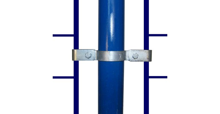 Montageclip dubbel 42,4 mm