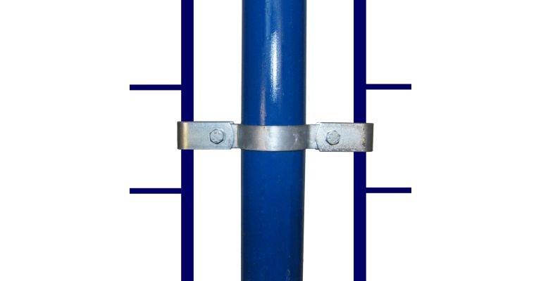 Montageclip dubbel 33,7 mm