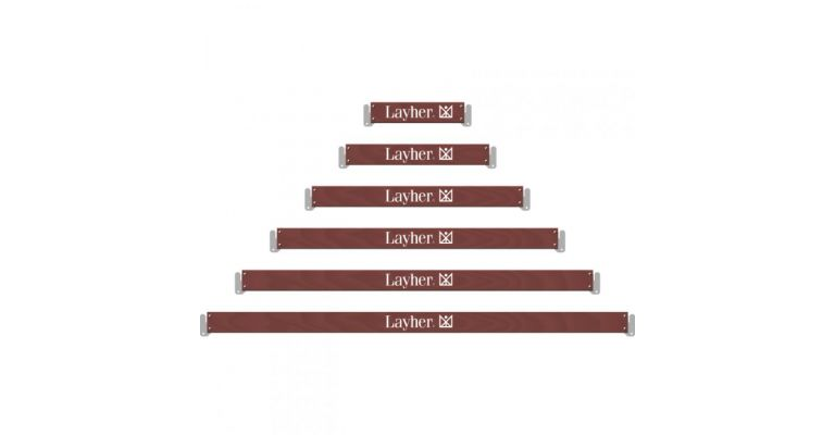 Layher AR U-kantplank hout 2,57m. nieuw