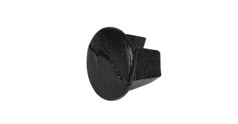 eindkap metaal 48.3 mm ZWART
