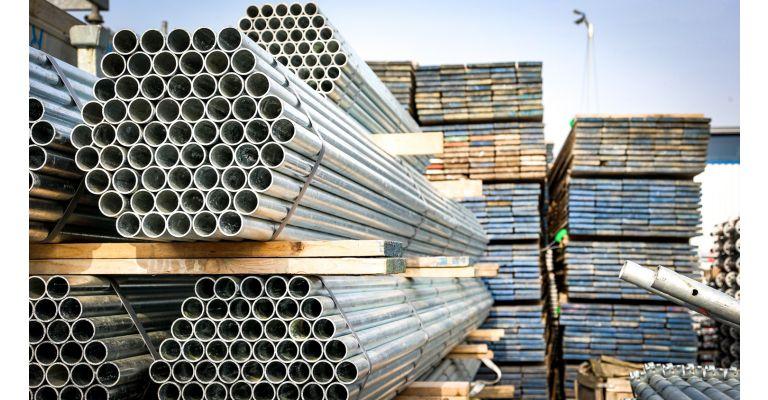 Steigerbuis 6,00m staal 26.9mm nieuw