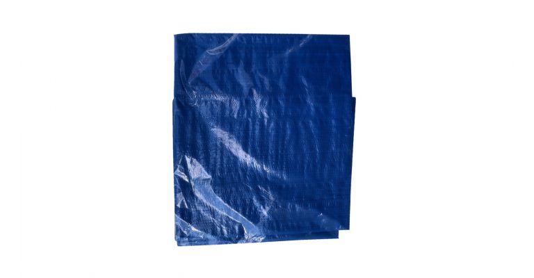 Bouwhekzeil blauw