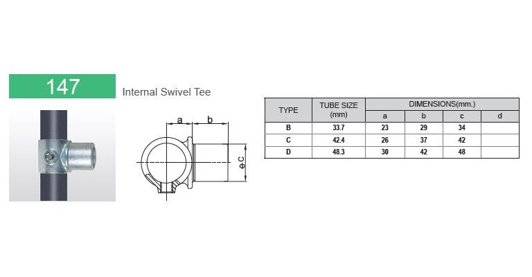 Combi fitting 33.7 mm