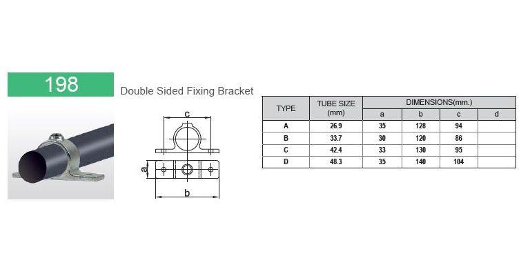 Klemring plaatmontage dubbel 42.4 mm