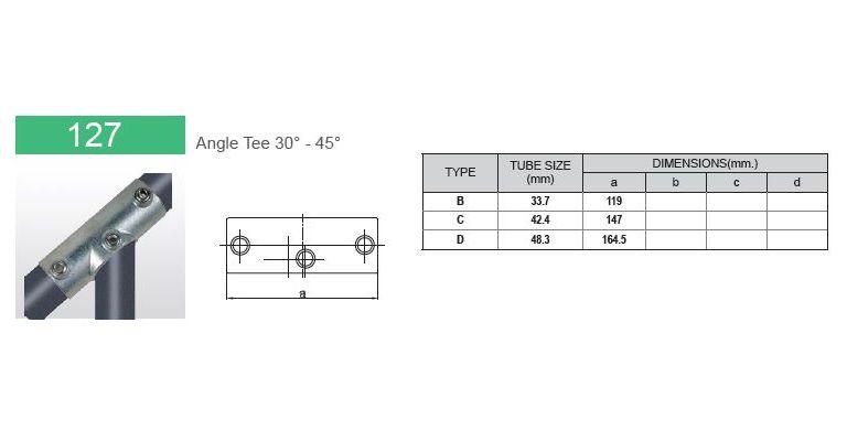 koppelstuk 30-45 graden gesloten 42.4 mm