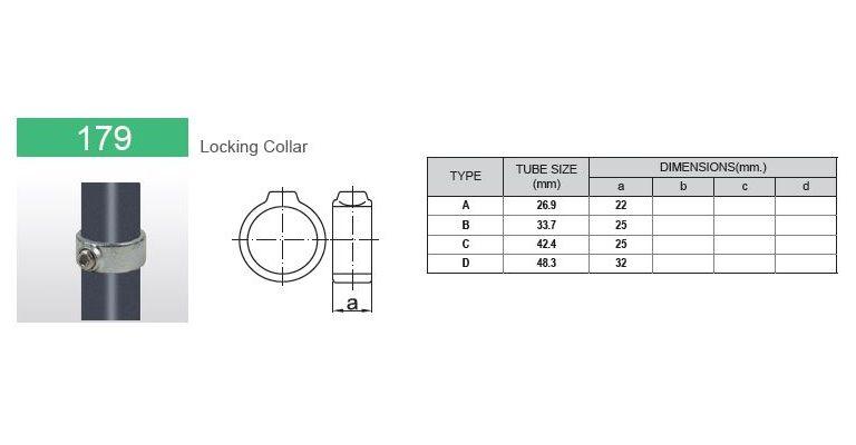 klem-/borgring 48.3 mm