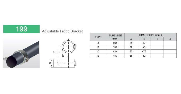 Klemring plaatmontage 33.7 mm
