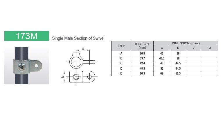 Scharnierdeel M 42.4 mm