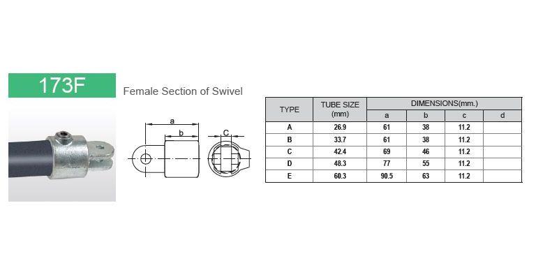 Scharnierdeel M dubbel 48.3 mm
