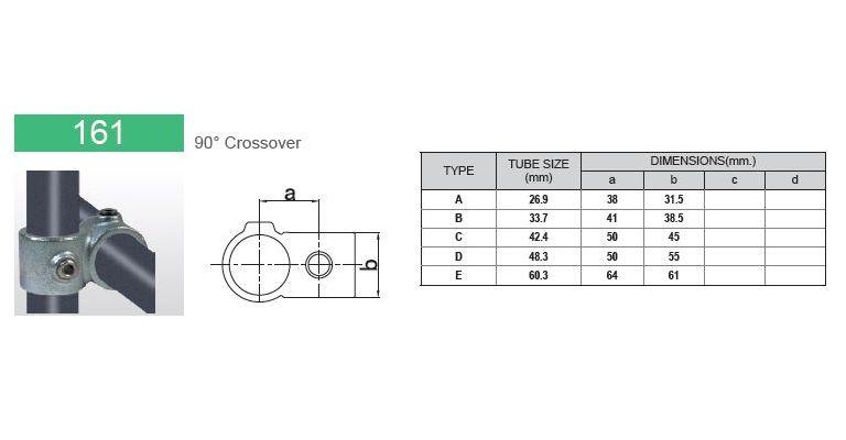 90 graden kruisstuk 48.3 mm