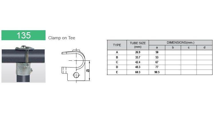 open T-stuk 42.4 mm