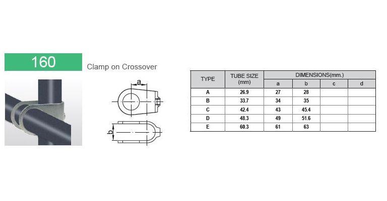 Kruisstuk invoegbeugel 33.7 mm