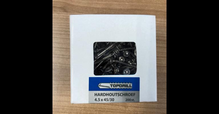 Zelfborende RVS schroef 4.5x45 mm