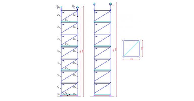 Pal Toren gebruikt  type 25 hoogte 7,27 - 7,59 m.