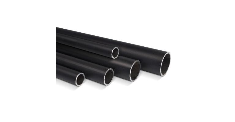 Steigerbuis ZWART 33.7 mm staal op maat nieuw