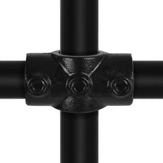 J22G25Z 2-weg 90 graden koppelstuk 33.7 mm ZWART