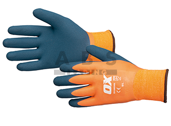 Latex thermisch werkhandschoen XL