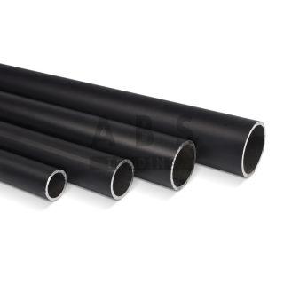 Steigerbuis ZWART 42.4 mm staal op maat nieuw