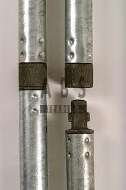 Van Thiel Tube Lock 2,00m aluminium nieuw