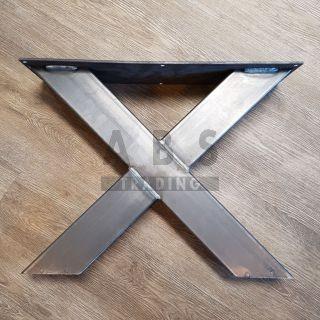 Set Metalen X onderstel laag onbehandeld Type Barbara