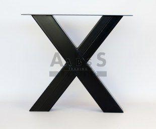Metalen X onderstel  hoog onbehandeld  Type Anja