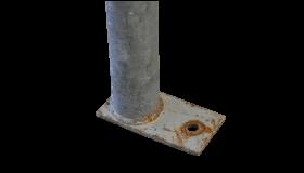 Ankerbuis gebruikt 48,3mm met plaat 1,00m  INDU